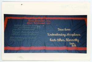 Primary view of object titled '[AIDS Memorial Quilt Panel for Mark Brandow]'.