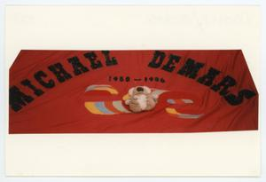 Primary view of object titled '[AIDS Memorial Quilt Panel for Michael Demars]'.