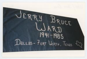 Primary view of object titled '[AIDS Memorial Quilt Panel for Jerry Bruce Ward]'.