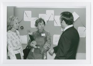 Primary view of object titled '[Amelia Fry, Willa Baum, and Gary L. Shumway at the Oral History Office]'.