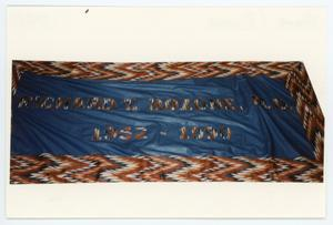 Primary view of object titled '[AIDS Memorial Quilt Panel for Richard Bozone]'.