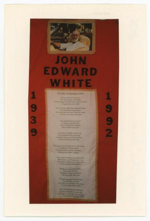 Primary view of object titled '[AIDS Memorial Quilt Panel for John Edward White]'.