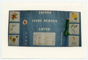Primary view of object titled '[AIDS Memorial Quilt Panel for Cindy Burton]'.
