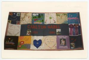 Primary view of object titled '[AIDS Memorial Quilt Panel for Carlton Gabel]'.