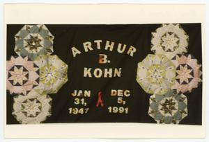 Primary view of object titled '[AIDS Memorial Quilt Panel for Arthur B. Kohn]'.