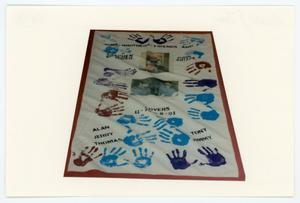 Primary view of object titled '[AIDS Memorial Quilt Panel for John Arizpe and Stephen Gotcher]'.