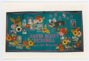 Primary view of object titled '[AIDS Memorial Quilt Panel for Kevin Scott Pickerill]'.