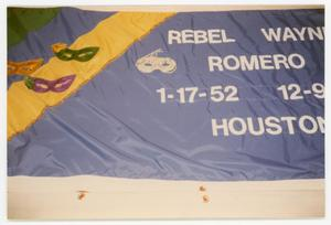 Primary view of object titled '[Quilt Panel for Rebel Wayne Romero]'.