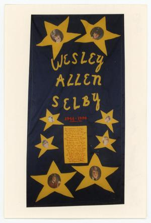 Primary view of object titled '[AIDS Memorial Quilt Panel for Wesley Allen Selby]'.