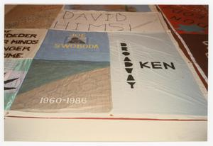 Primary view of object titled '[AIDS Memorial Quilt Panel for Joe Swoboda]'.