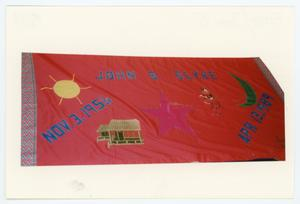 Primary view of object titled '[AIDS Memorial Quilt Panel for John S. Slyke]'.