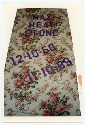Primary view of object titled '[AIDS Memorial Quilt Panel for Max Neal Stone]'.