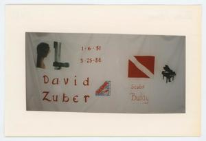 Primary view of object titled '[AIDS Memorial Quilt Panel for David Zuber]'.