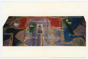 Primary view of object titled '[AIDS Memorial Quilt Panel for Bernard Allen]'.