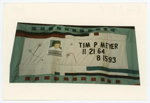 Primary view of object titled '[AIDS Memorial Quilt Panel for Tim P. Meyer]'.