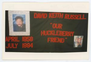 Primary view of object titled '[AIDS Memorial Quilt Panel for David Keith Russell]'.