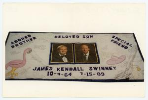 Primary view of object titled '[AIDS Memorial Quilt Panel for James Kendall Swinney]'.