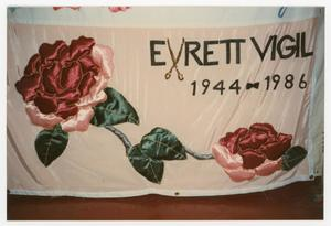 Primary view of object titled '[Quilt Panel for Evrett Vigil]'.