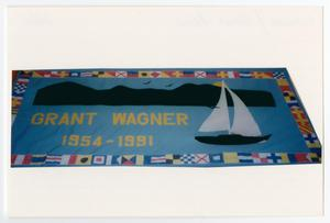 Primary view of object titled '[AIDS Memorial Quilt Panel for Grant Wagner]'.