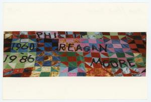 Primary view of object titled '[AIDS Memorial Quilt Panel for Philip Reagan Moore]'.