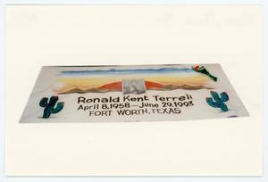 Primary view of object titled '[AIDS Memorial Quilt Panel for Ronald Kent Terrell]'.