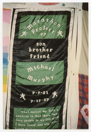 Primary view of object titled '[Quilt Panel for Michael Murphy]'.