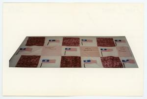 Primary view of object titled '[AIDS Memorial Quilt Panel for Robert Fulps, Joe Bob Henson, and Rey Perez]'.
