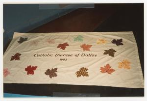Primary view of object titled '[AIDS Memorial Quilt Panel for the Catholic Diocese of Dallas]'.