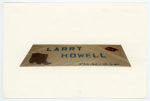 Primary view of object titled '[AIDS Memorial Quilt Panel for Larry Howell]'.