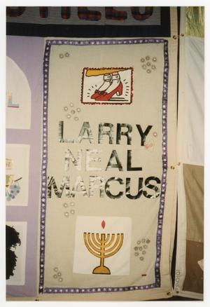 Primary view of object titled '[Quilt Panel for Larry Neal Marcus]'.