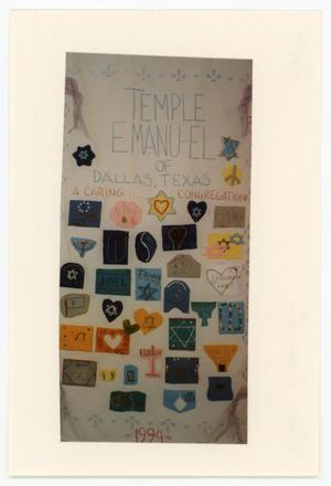 Primary view of object titled '[AIDS Memorial Quilt Panel for Temple Emanu- El]'.