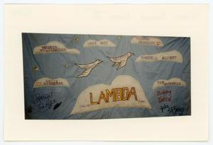 Primary view of object titled '[AIDS Memorial Quilt Panel for Lambda Bowling League I]'.