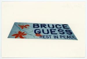 Primary view of object titled '[AIDS Memorial Quilt Panel for Bruce Guess]'.