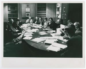 Primary view of object titled '[A Large Seated Group Discussion]'.