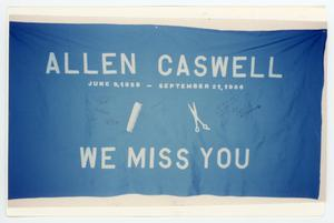 Primary view of object titled '[AIDS Memorial Quilt Panel for Allen Lynn Caswell]'.