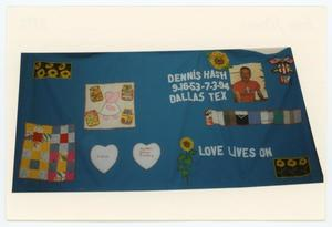 Primary view of object titled '[AIDS Memorial Quilt Panel for Dennis Hash]'.