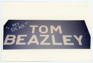 Primary view of object titled '[AIDS Memorial Quilt Panel for Tom Beazley]'.