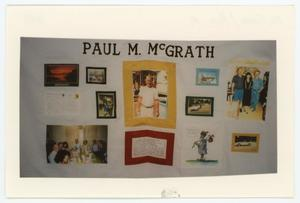 Primary view of object titled '[AIDS Memorial Quilt Panel for Paul M. McGrath]'.