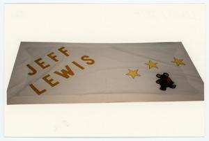 Primary view of object titled '[AIDS Memorial Quilt Panel for Jeff Lewis]'.