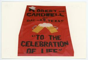 Primary view of object titled '[AIDS Memorial Quilt Panel for Robert Cardwell]'.