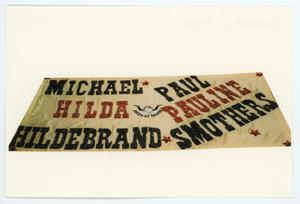 Primary view of object titled '[AIDS Memorial Quilt Panel for Michael Hildebrand]'.