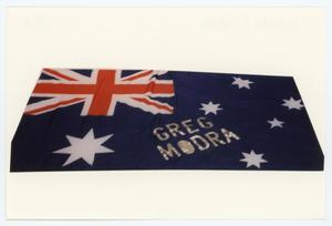 Primary view of object titled '[AIDS Memorial Quilt Panel for Greg Modra]'.