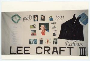 Primary view of object titled '[AIDS Memorial Quilt Panel for Lee Craft III]'.