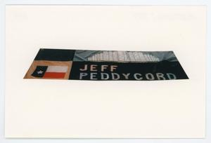 Primary view of object titled '[AIDS Memorial Quilt Panel for Jeff Peddycord]'.
