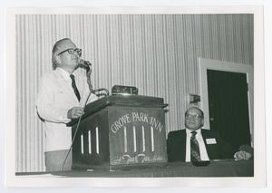 Primary view of object titled '[Man Speaking at Podium]'.