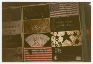 Primary view of object titled '[Quilt Section with Multiple Dedications]'.