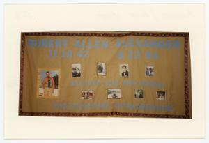 Primary view of object titled '[AIDS Memorial Quilt Panel for Robert Allen Alexander]'.