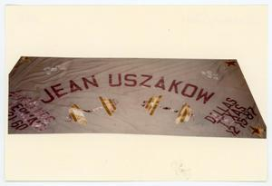 Primary view of object titled '[AIDS Memorial Quilt Panel for Jean Uszakow]'.