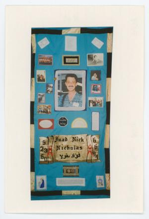 Primary view of object titled '[AIDS Memorial Quilt Panel for Fuad Nick Nicholas]'.
