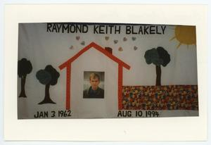 Primary view of object titled '[AIDS Memorial Quilt Panel for Raymond Keith Blakely]'.
